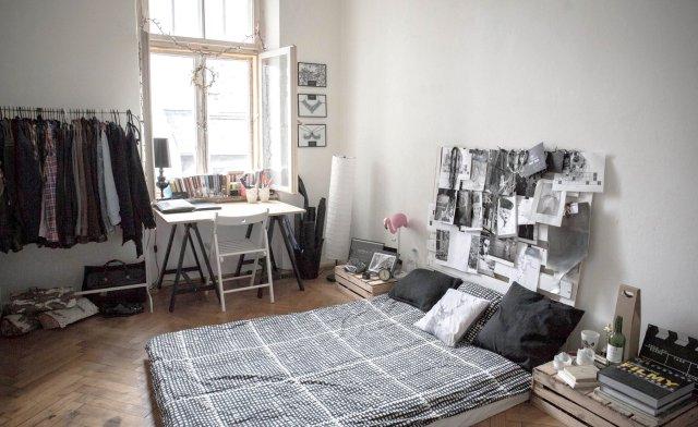 Wnętrze w skandynawskim stylu, kamienica w Warszawie, jak tanio urządzić mieszkanie